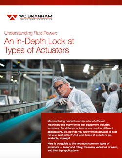 guide to types of actuators - hydraulic and pneumatic