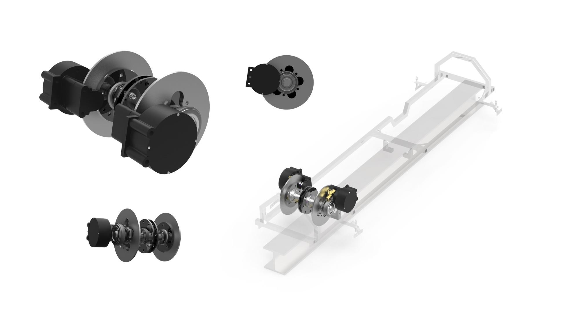 WC Branham pneumatic spring-applied brakes